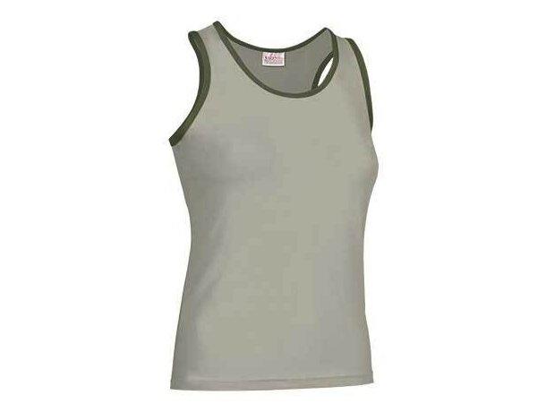 Camiseta de tirantes de mujer ribete combinado Valento barata beige