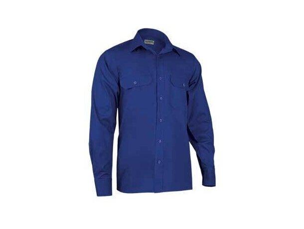 Camisa de hombre de trabajo manga larga Valento azul royal