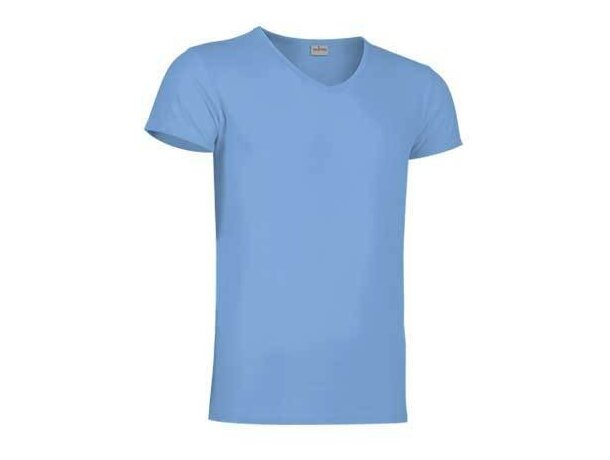 Camiseta cuello de pico de Valento Valento azul claro barata