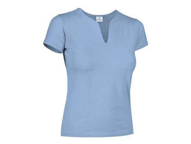 Camiseta de mujer ajustada 190 gr Valento azul claro