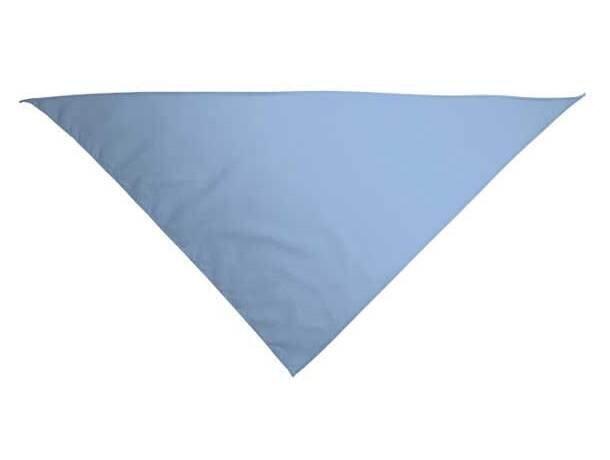 Pañuelo de forma triangular Valento personalizado azul claro