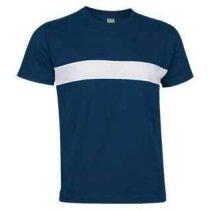 Camiseta manga corta combinada Valento azul