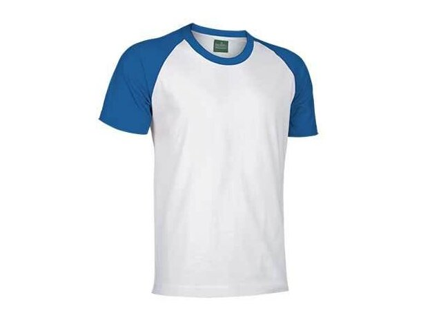 Camiseta manga corta contrastada de Valento 160 gr Valento original azul