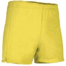 Pantalón deportivo corto de poliéster Valento amarillo