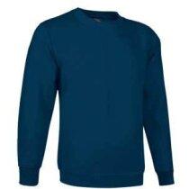 Sudadera de felpa con cuello redondo lisa Valento grabada azul