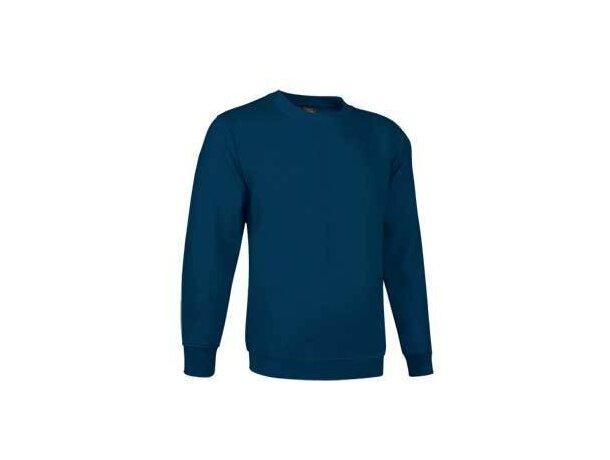 Sudadera de felpa con cuello redondo lisa Valento azul