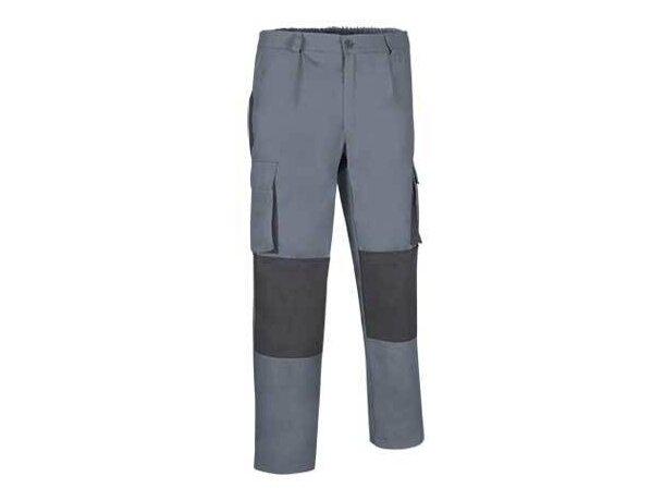 Pantalón resistente de hombre con bolsillos y rodilleras Valento gris
