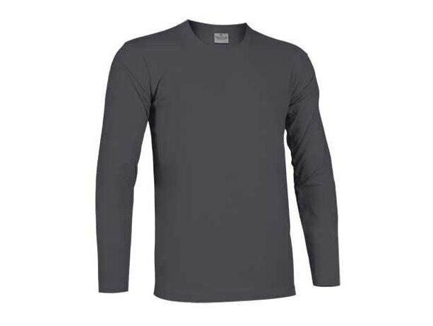 Camiseta manga larga unisex sin pulos Tiger de Valento 160 gr Valento gris