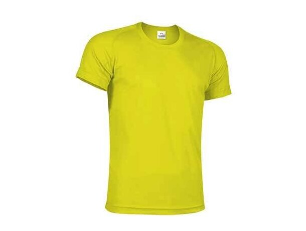 Camiseta cuello redondo ligera Valento amarillo alta visibilidad