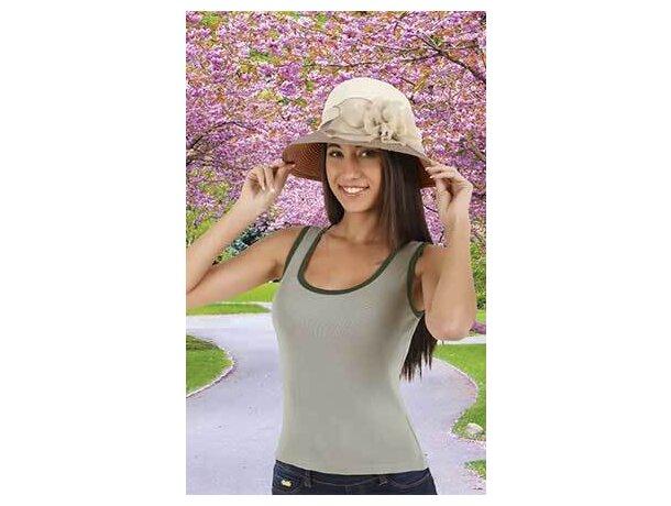 Camiseta de tirantes de mujer ribete combinado Valento