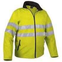 Chaqueta de cuello alto con  protección térmica y reflectantes Valento personalizada amarillo alta visibilidad