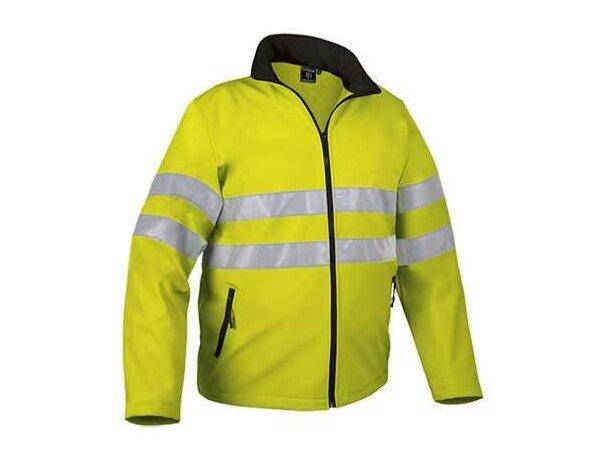 Chaqueta de cuello alto con protección térmica y reflectantes Valento amarillo alta visibilidad