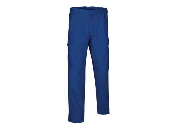 Pantalón multibolsillos de corte clásico Valento azul royal personalizado