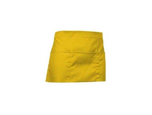 delantal corto con amplio bolsillo central Valento barato amarillo