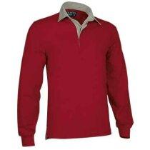 Polo unisex manga larga liso Valento rojo personalizado