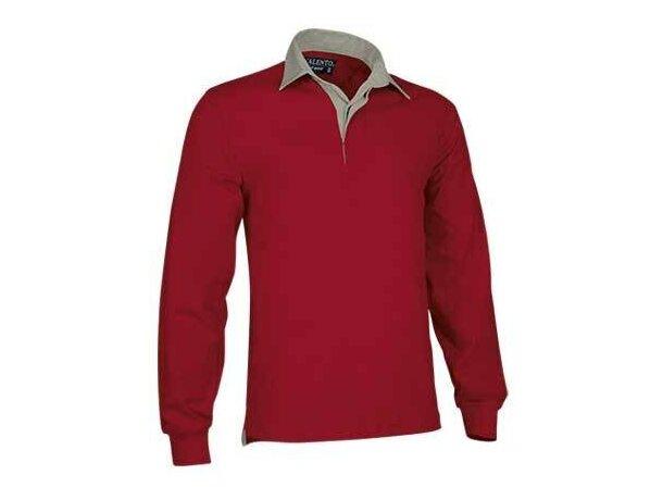Polo unisex manga larga liso Valento personalizado rojo