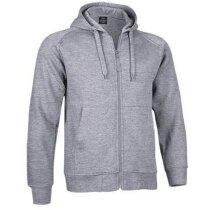 Sudadera con cremallera entera y capucha Valento merchandising gris