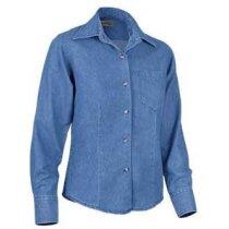 Camisa de mujer entallada tejido vaquero Valento azul