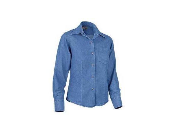 Camisa de mujer entallada tejido vaquero Valento