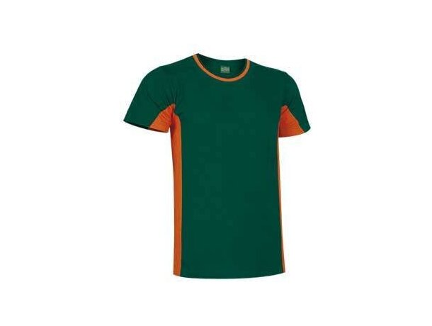 Camiseta manga corta combinada 160 gr Valento Valento verde naranja personalizado