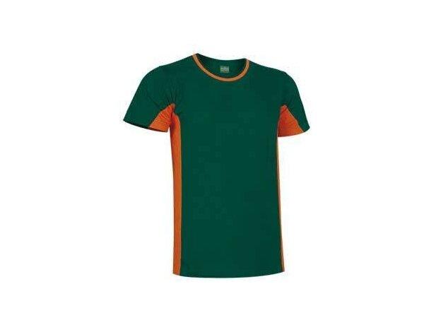 Camiseta manga corta combinada 160 gr Valento Valento verde naranja