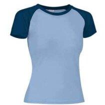 Camiseta de mujer combinada Valento azul claro