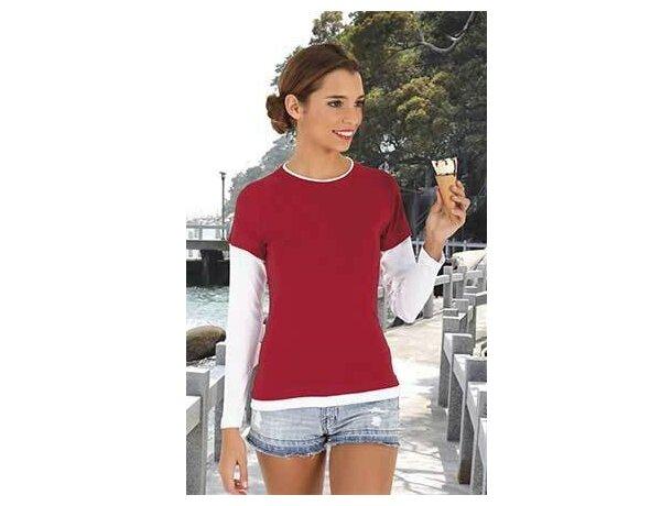 Camiseta doble manga larga de mujer 200 gr Valento