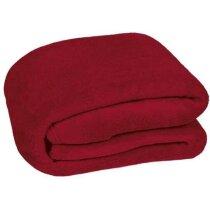 Manta polar para el frío Valento personalizada roja
