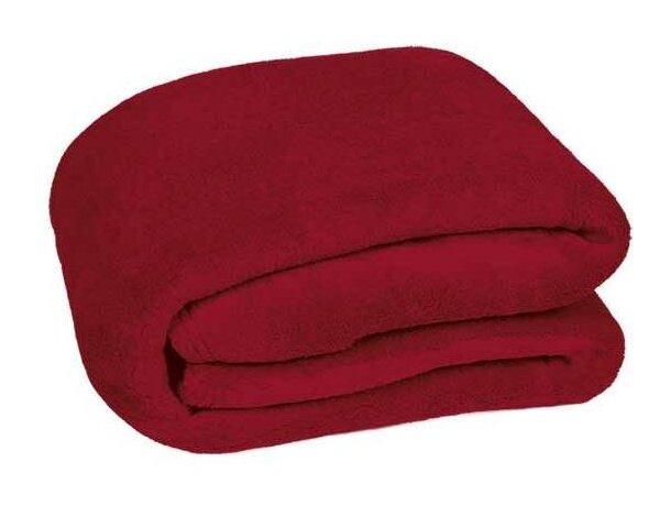 Manta polar para el frío Valento grabada roja