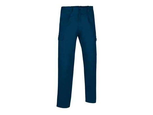 Pantalón largo multibolsillos con pinzas para hombre Valento azul personalizado