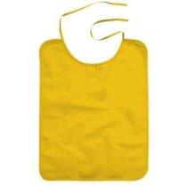 Babero de adulto para restaurantes en popelin Valento personalizado amarillo