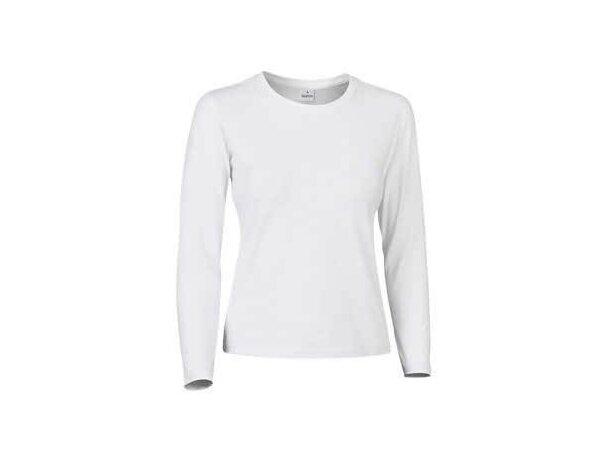 Camiseta manga larga de mujer 190 gr Valento blanca