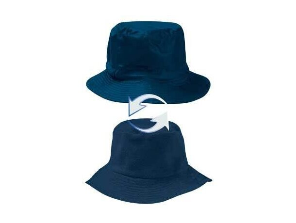Gorro reversible de poliester acabado interior polar Valento personalizado azul