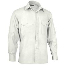 Camisa de manga larga unisex tejido mixto Valento beige