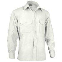 Camisa de manga larga unisex tejido mixto Valento personalizada beige