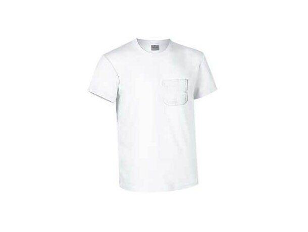 Camiseta unisex con bolsillo de colores Valento blanca