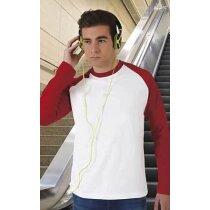 Camiseta manga larga de hombre combinada 200 gr Valento