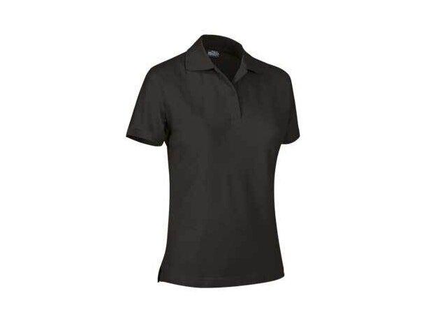Polo de mujer manga corta 220 gr Valento original negro