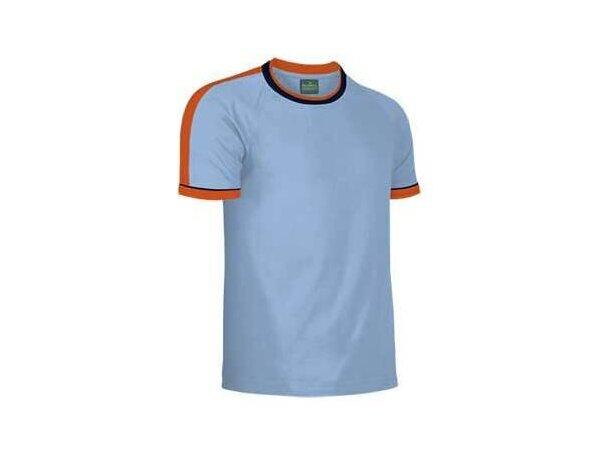 Camiseta manga corta combinada Valento 160 gr Valento azul claro