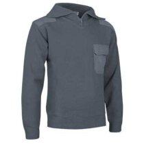 Jersey de cuello alto y media cremallera Valento gris original