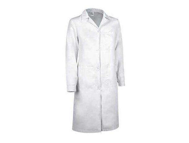 Bata de trabajo para mujer con bolsillos Valento personalizada blanca