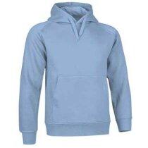 Sudadera de felpa con capucha Valento con logo azul claro