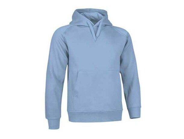 Sudadera de felpa con capucha Valento azul claro