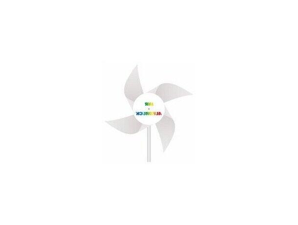 Molinillos de viento giratorios personalizado blanco