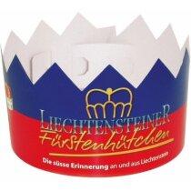 Corona de cartón para fiestas personalizada