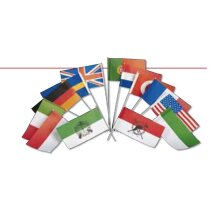 Banderines de papel de diferentes países