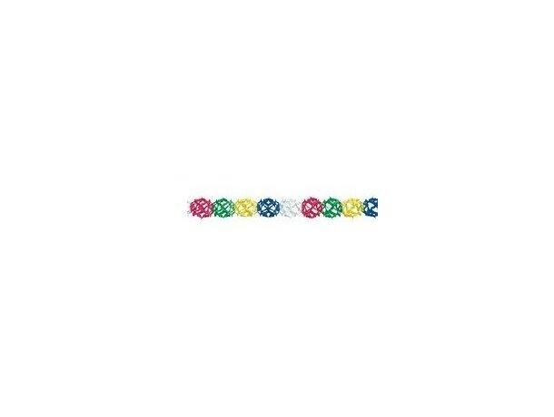 Guirnalda con forma redonda y colores diferentes