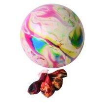 Globos jaspeados multicolor
