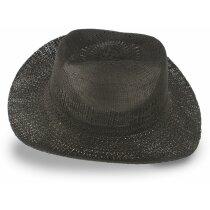 Sombrero sintético estilo Dallas personalizado negro