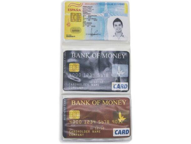 Porta tarjetas triple blanco